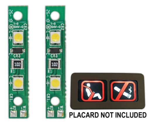 Two PWI LED boards are a direct replacement for the two Teledyne 1202-300 bulb boards,