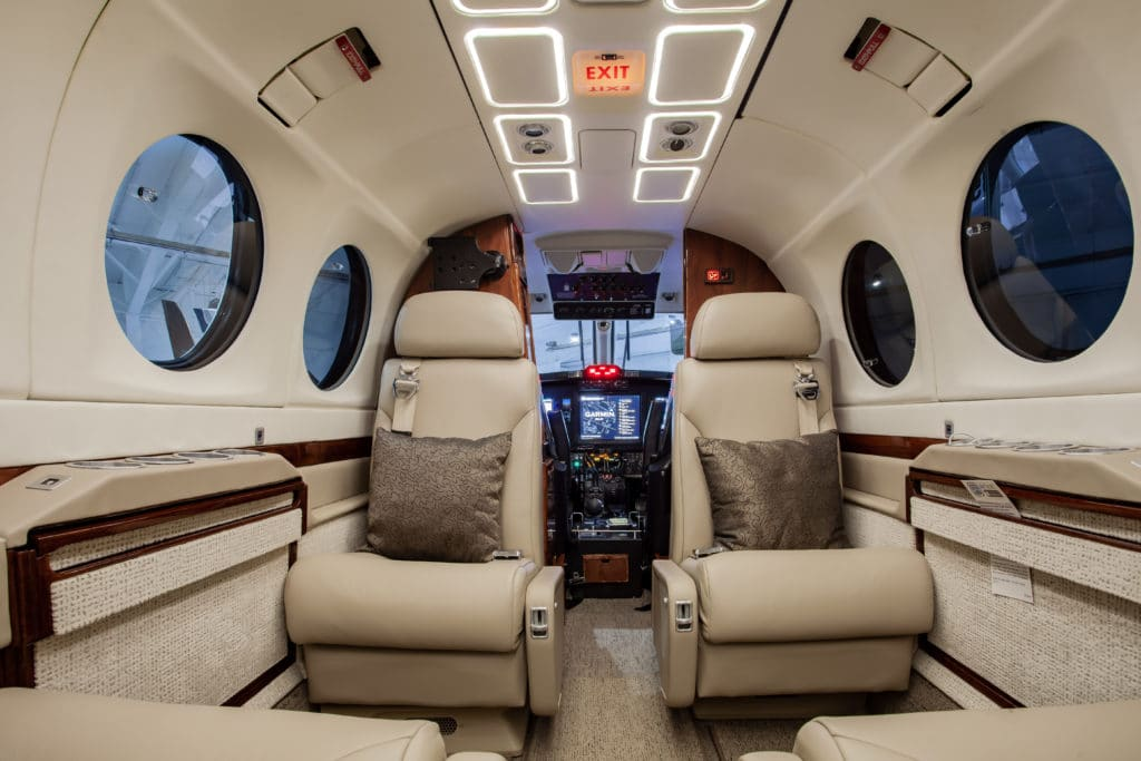 Mid-Continent Aviation Services with PWI LED King Air 300 Upgrade