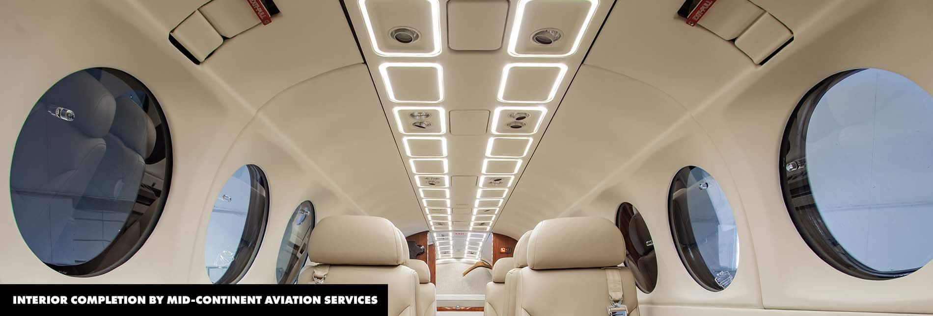 Interior King Air 300 LED Upgrade. PWI