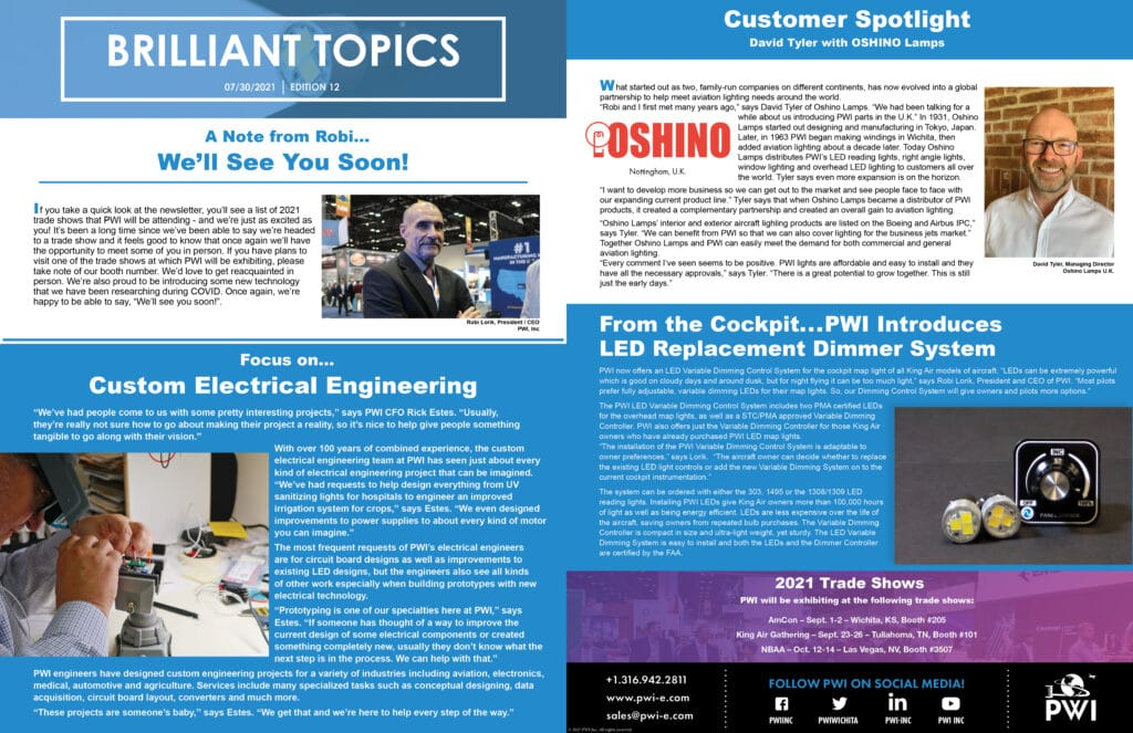 Newsletter: Edition 12 PWI